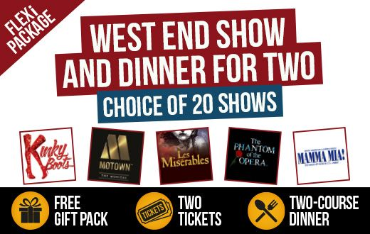 London Theatre Vouchers for Two £99.95