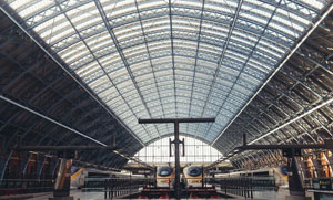 The beautiful St Pancras Station in London
